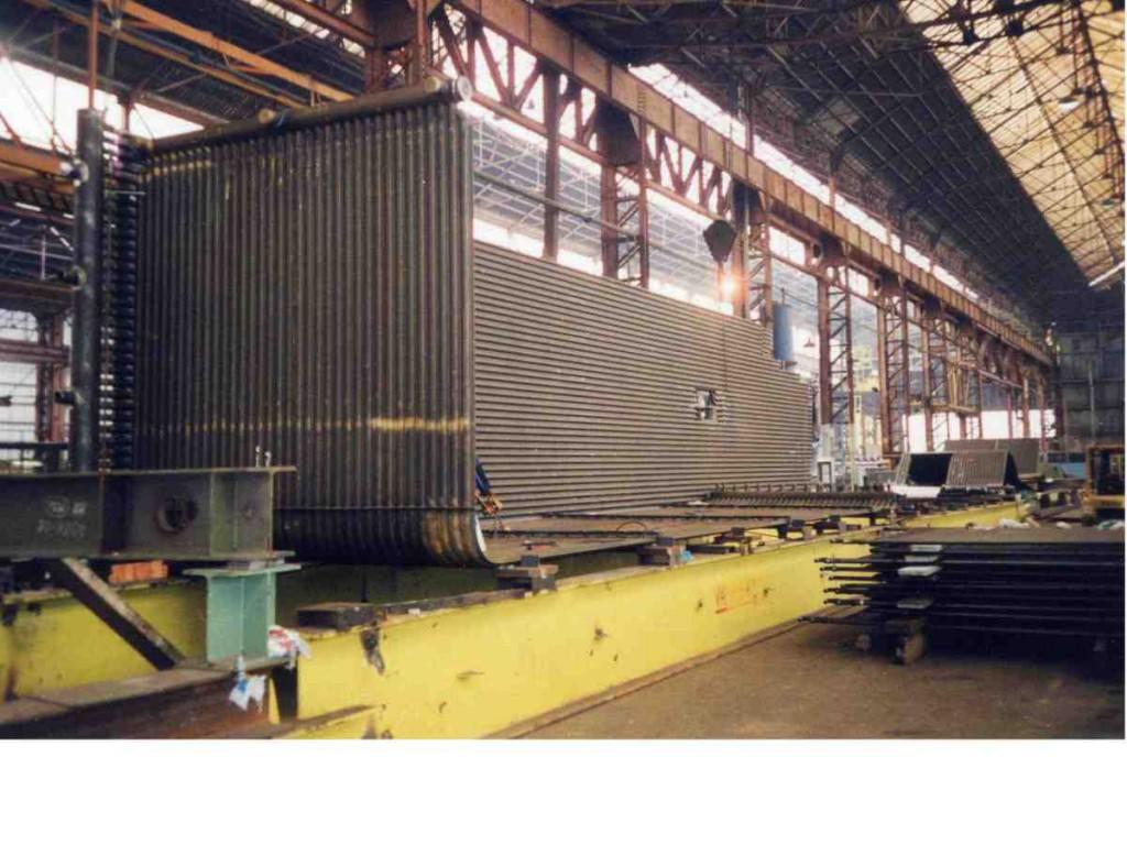 HRSG construction in workshop