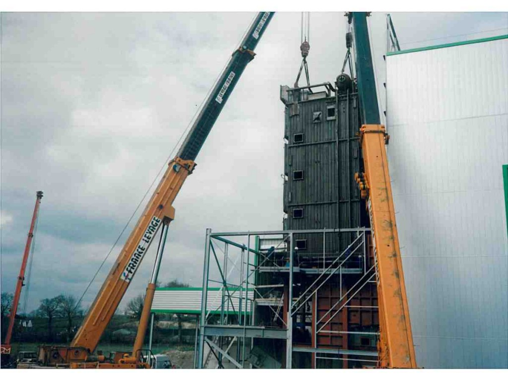 Erection of HRSG