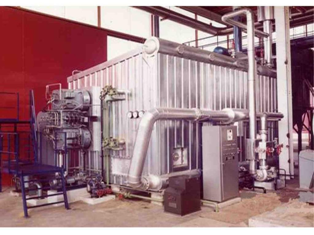 Installed hot water generator