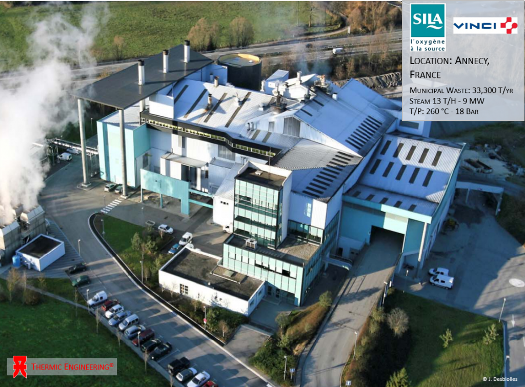 Annecy, France - Thermic Engineering - Heat Recovery steam generators (Waste to Energy)