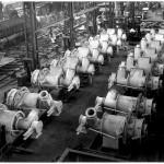 Coal burners in workshop
