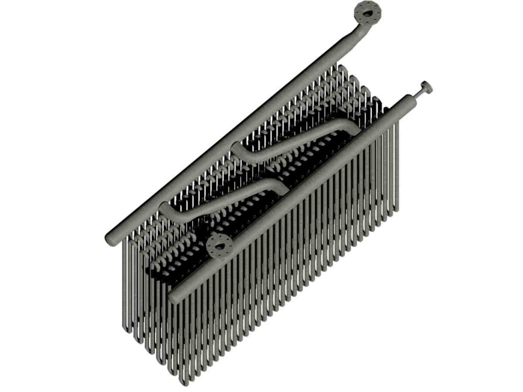 3D of heat exchanger